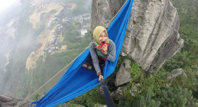 Tebing Masigit Bandung Lokasi Hammock Menantang