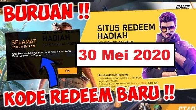 Kode Redeem Ff 30 Mei 2020 Free Diamond Dan Update Ob22