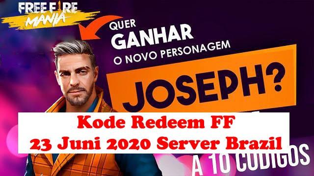kode redeem ff 23 juni 2020 server brazil dan scar titan gratis