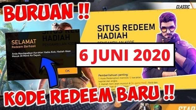 kode redeem ff 6 juni 2020 dapetin scar titan gratis