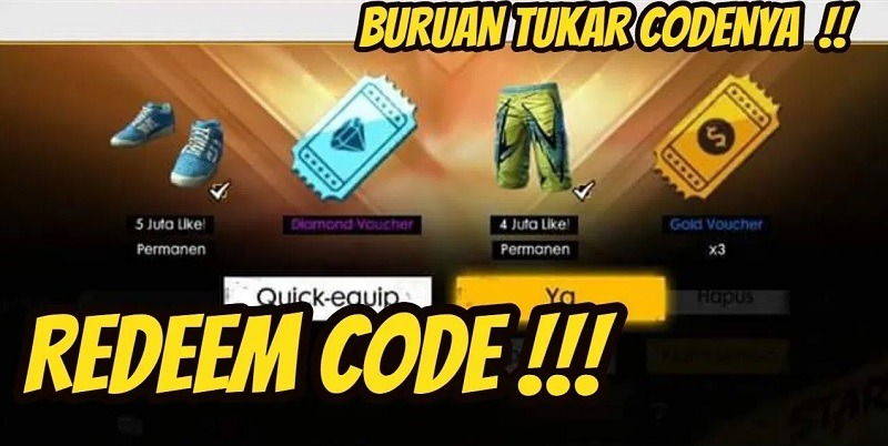 14 kode redeem ff 4 juli 2020 server indonesia