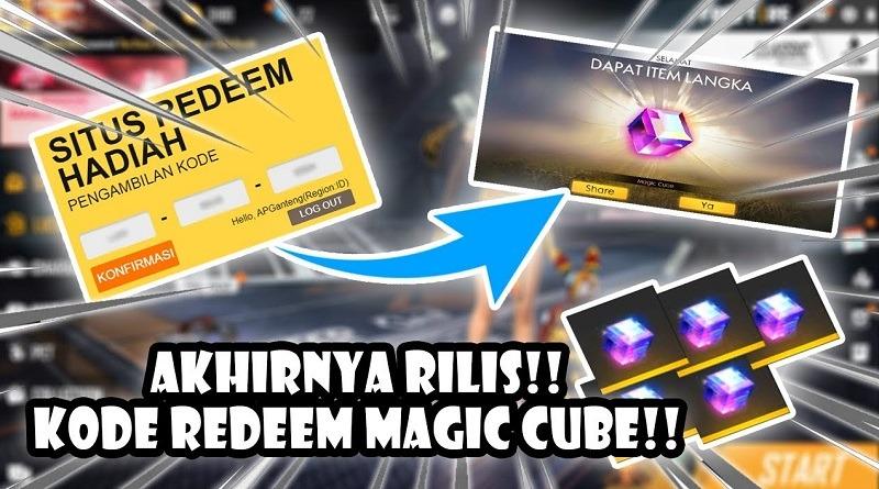kode redeem ff terbaru juli 2020 magic cube