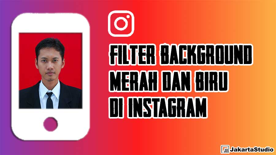 Filter Background Merah Dan Biru Instagram