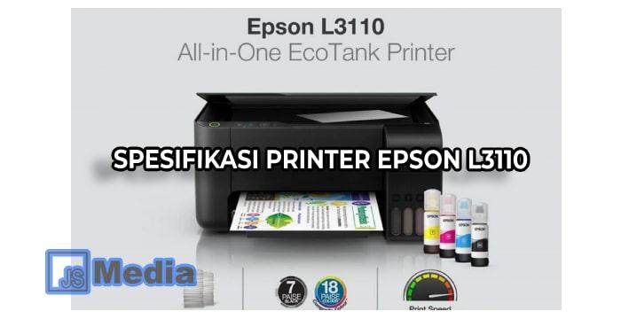 Spesifikasi Printer Epson L3110