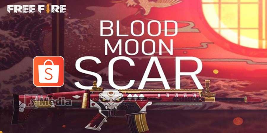 Cara Mendapatkan Kode Redeem Scar Blood Moon FF Gratis dari Shopee