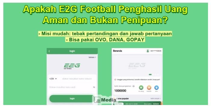 Apakah E2G Football Penghasil Uang Aman dan Bukan Penipuan ...